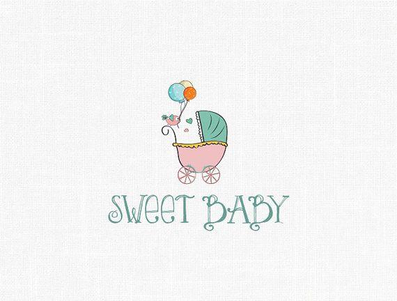 Custom Baby Girl  Logo Design / Sweet Baby Logo