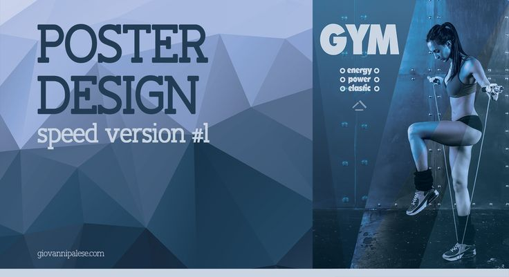 Poster Design with Photoshop - Speed Art #1| Gym