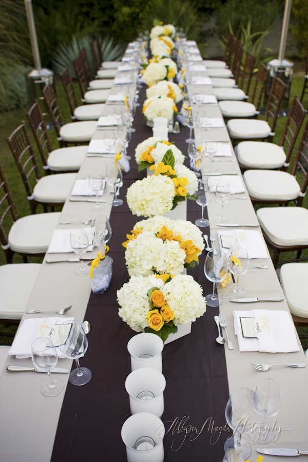 Yellow And White Wedding Imagery, Reception Centerpieces At The Parker Palm  Springs, Allyson Magda