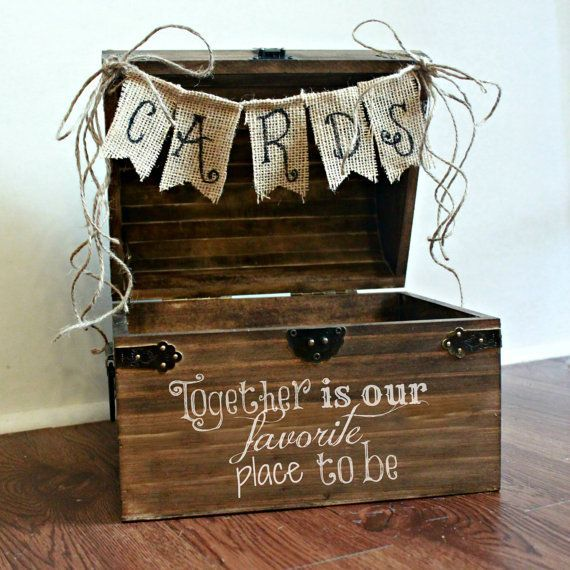 Large Shabby Chic Rustic Wooden Card Box Wedding Card by BoaAndBoo,