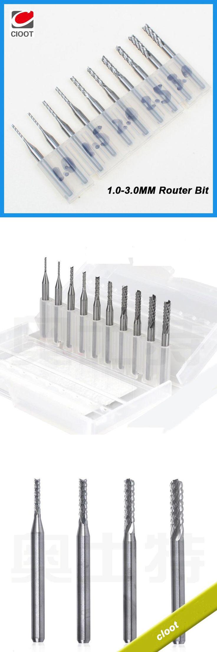[Visit to Buy] 2017 Hot Sale CNC Router Bit Mini Pcb Carbide Machine Tools End Mill 3.175 Diameter Cnc Cutting Bits Milling Cutters Kit  #Advertisement