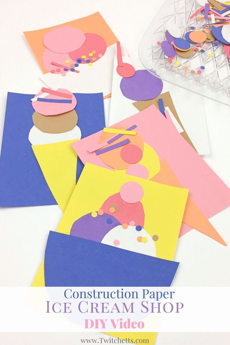 Construction Paper Ice Cream Shop Video Kids Birthday Pinterest