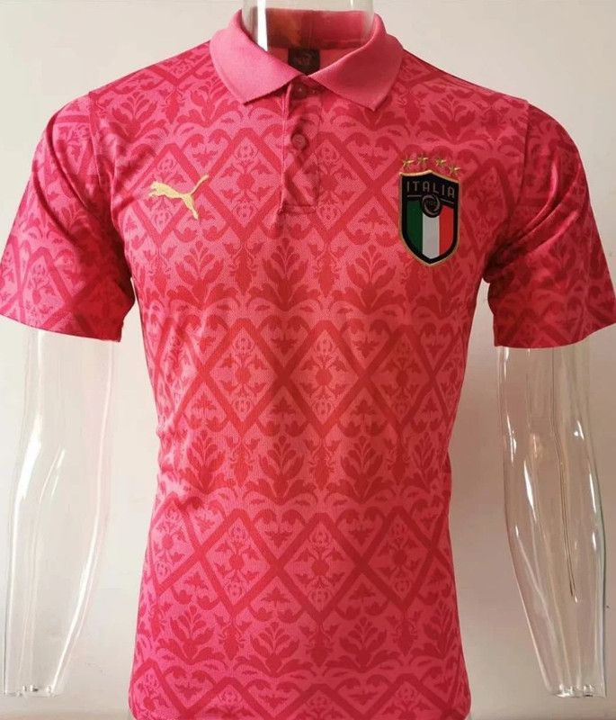 2020 2021 Italy Pink Thailand Polo In 2020 Pink Polo Shirt Polo Shirt Soccer Shirts