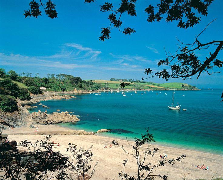 Trebah beach,Cornwall