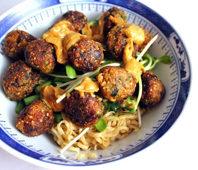 vegan thai-style quinoa balls