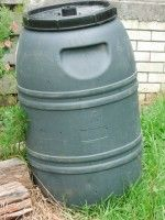 DIY rolling compost bin