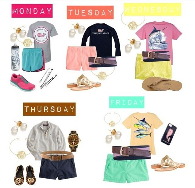 LOVE. LOVE. LOVE. #preppy #southerngirl I want all of this and would love it if picking outfits were as easy as this looks!