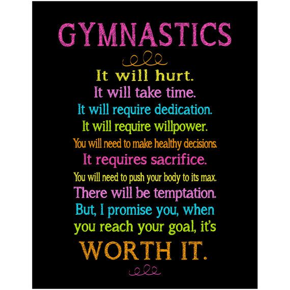 Gymnastics Wall Art. Wonderful Inspirational reminder by ksp417