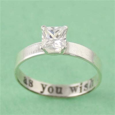 Princess Bride CZ Engagement Ring - Spiffing Jewelry As You Wish