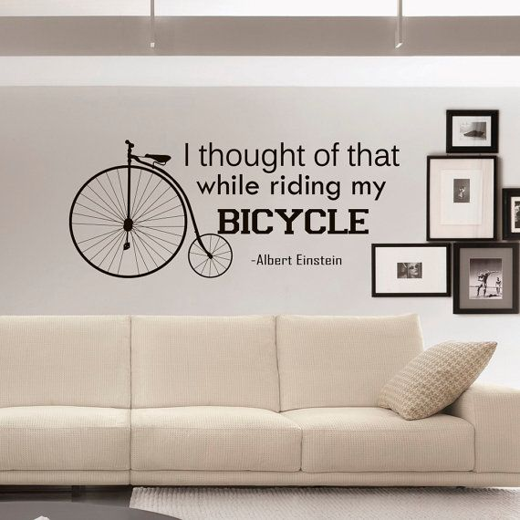 Bicycle Quotes Wall Decals Vinyl Lettering I door FabWallDecals