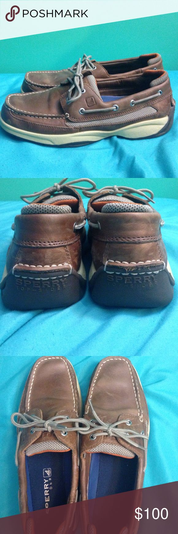 Men's Sperrys Mens's Sperrys. Look like new, worn only a few times. Clean and very little markings on the leather. Like-new condition!! Offers accepted Sperry Top-Sider Shoes Boat Shoes