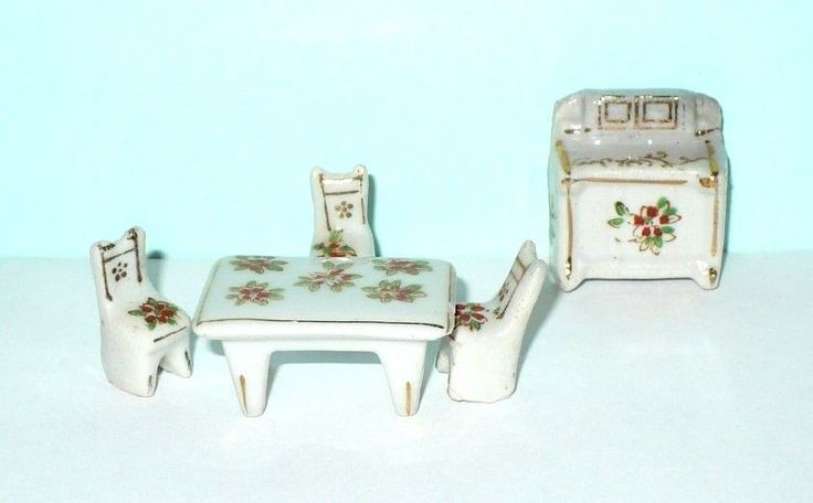 VINTAGE MINIATURE CERAMIC KITCHEN DOLL HOUSE PIECES COLLECTIBLES JAPAN | eBay