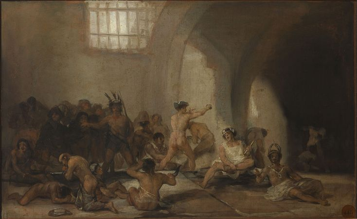 Francisco de Goya - La casa de locos - Google Art Project.jpg Франсиско де Гойя - дурдом.