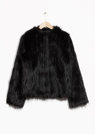 & Other Stories image 1 of Faux Fur in Black