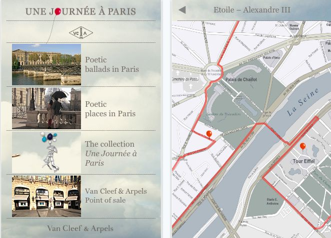 High #fashion & high #technologies #Van Cleef & Arpels a day in Paris #application