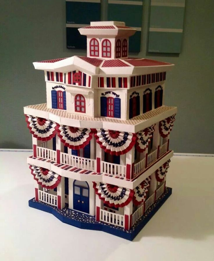 This is a creation of anne kieder using svgcuts mistletoe for 3d house maker