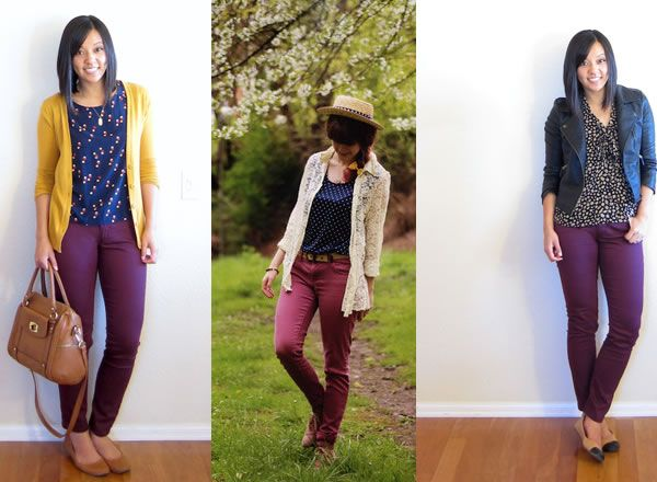 What to wear with burgundy pants; learn what you can wear with burgundy pants and how to wear burgundy pants for a stylish outfit. The best way to wear burgundy pants
