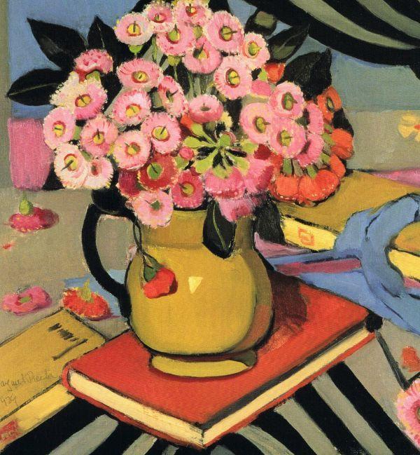 Pink Gum Blossoms,1929. Oil on canvas, 43 x 43cm. Margaret Preston