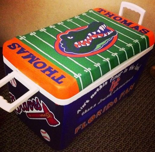 Paint Florida Gators, Braves, Titleist cooler!