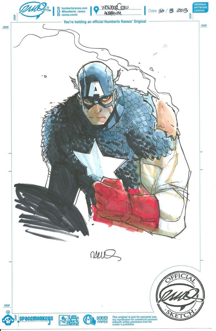 Captain America by Humberto Ramos *