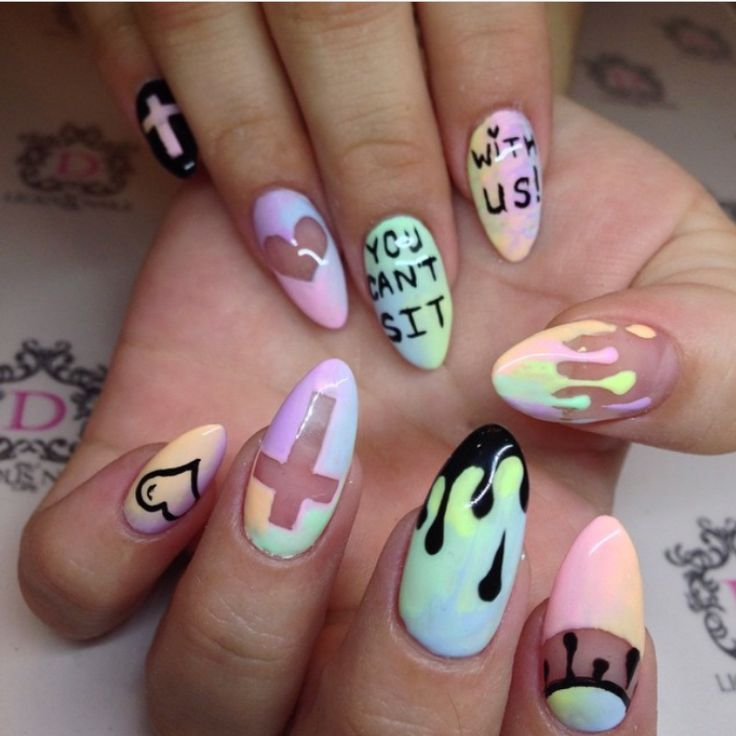 pastel goth nails – Google Search
