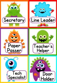Monster Themed Classroom Materials Pack @Ashley Fillingame have you seen these?  Aren't you doing a monster theme??