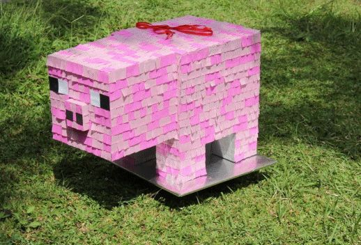 Minecraft pig pinata