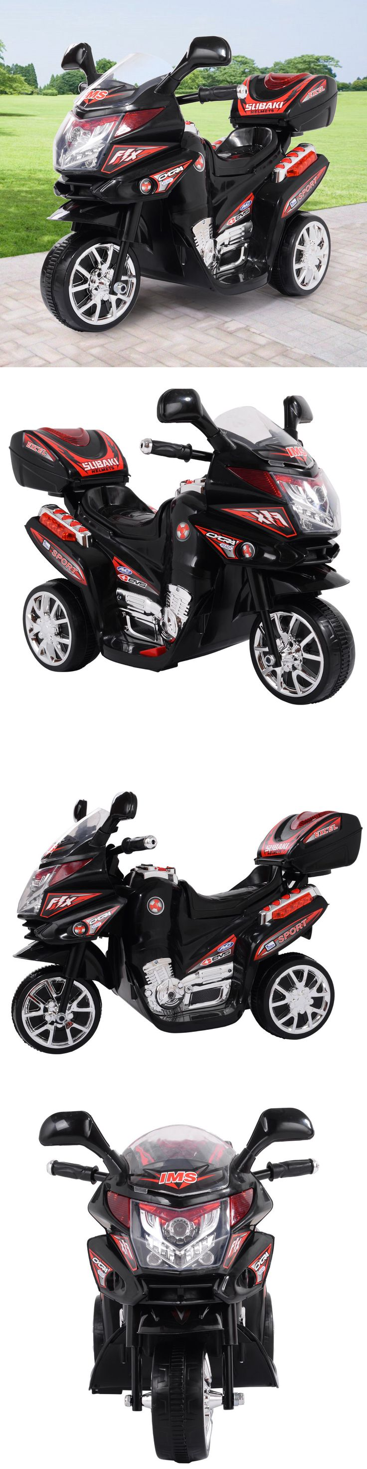 Ride On Toys and Accessories 145944: Kids 3 Wheel Electric Motorcycle 6V Bike Battery Powered Ride On Toy New Black -> BUY IT NOW ONLY: $43.99 on eBay!
