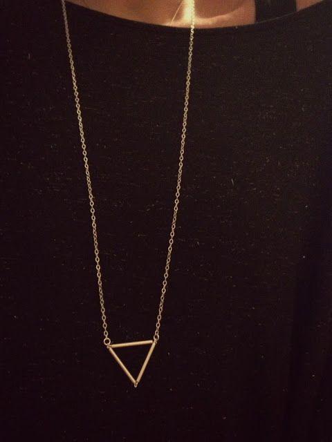 DIY Das mach ich selber!: DIY Triangle Kette. I like.