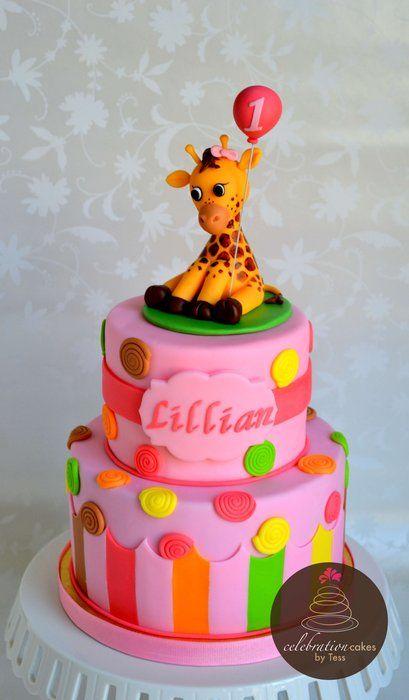 Sweet at One Giraffe Cake - by CelebrationCakes @ CakesDecor.com - cake decorating website