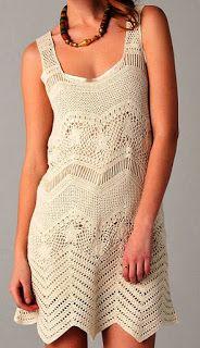 Tina's handicraft : crochet summer dress with fringes