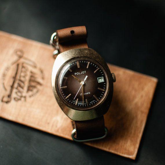 Rare vintage watch Poljot, mechanical mens watch, ussr watch, montre homme, soviet vintage watch, gents watch
