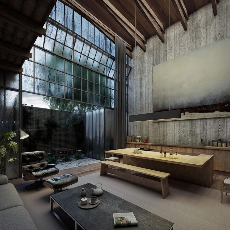 1034 best industrial bohemian images on pinterest for Architecture loft