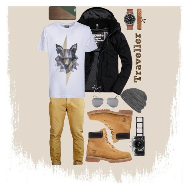 """Traveller Men Fashion"" by saffaatun on Polyvore featuring Superdry, Kloters Milano, Timberland, Arizona, Yves Saint Laurent, Outdoor Research, Native Union, Nikon, men's fashion and menswear"