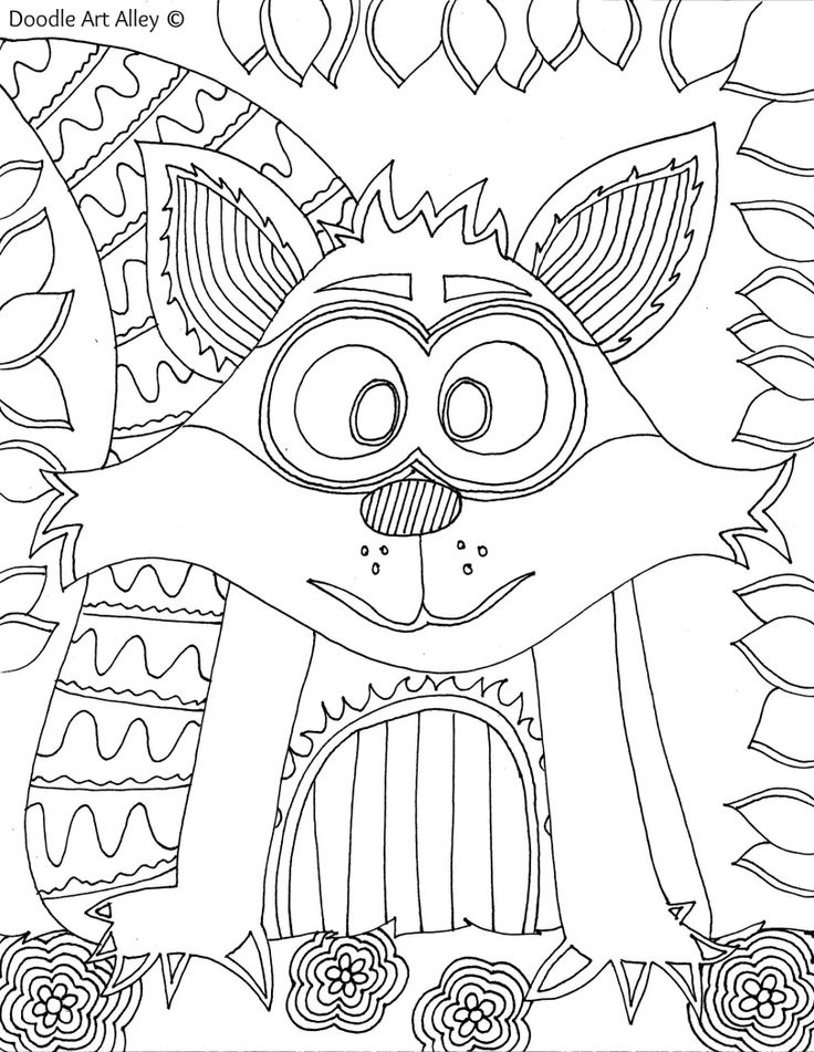 1000 Images About Animal Coloring Pages Doodle Op Pinterest Doodle Alley Coloring Pages