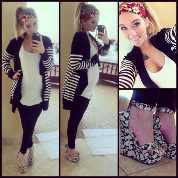 Outfit I wore today! 23 weeks pregnant and I love dressing up my bump!