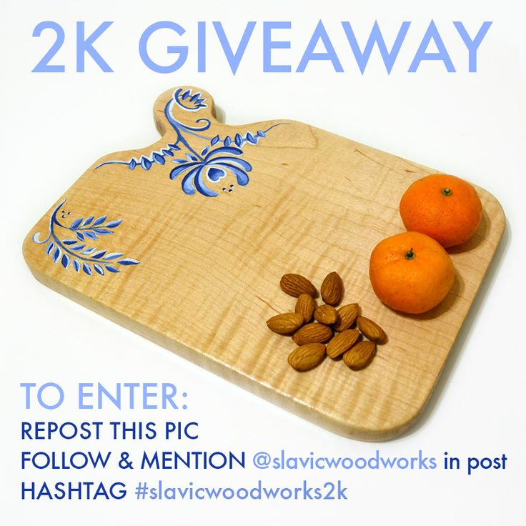 Giveaway! only on Instagram and only till Feb 6, 2015! Go to http://instagram.com/slavicwoodworks/