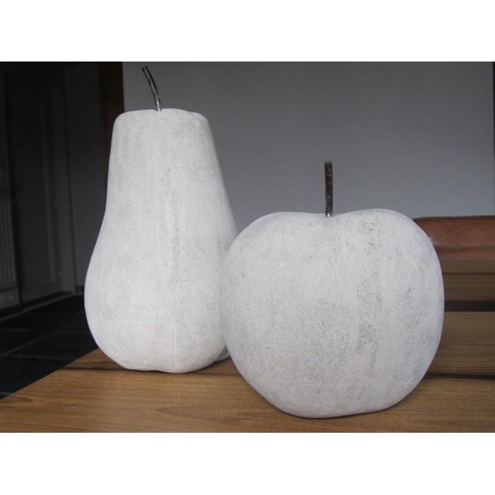 Decoratieve appel en peer in beton (set)