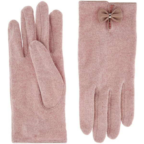 Accessorize Wool Glove With Bow ($23) ❤ liked on Polyvore featuring accessories, gloves, woolen gloves, cold weather gloves, wool gloves and bow gloves