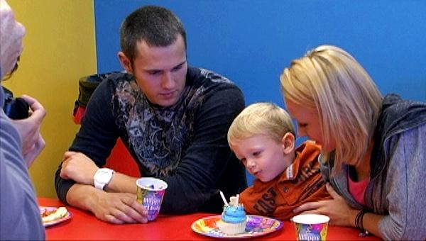 Maci and Ryan help Bentley celebrate his birthday.