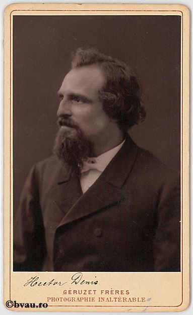 """Hector Denis, Bruxelles, 1889. Imagine din colecțiile Bibliotecii """"V.A. Urechia"""" Galați."""