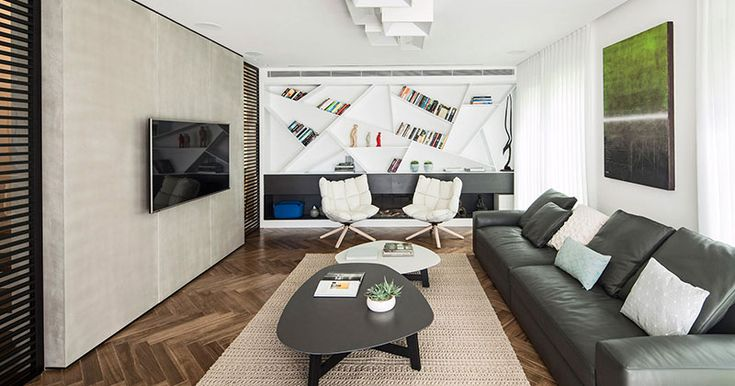 Design Idea For Shelves – Angle Your Bookshelves For A Unique Creative Design | CONTEMPORIST