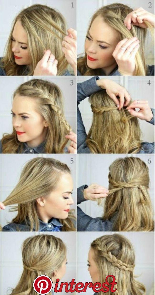 Wie Macht Man Eine Einfache Frisur Mittellanges Haar Frisuren Einfache In 2019 Pinterest Hair Hair Styles And Braids Mittellange Haare Frisuren Einfach Frisuren Mittellanges Haar Geflochtene Frisuren