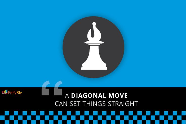 A diagonal move can set things straight.