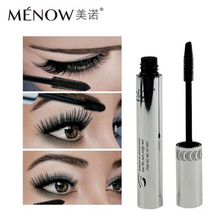 2017 Menow Brand Eye Mascara Makeup Long Eyelash Silicone Brush Curving Lengthening Colossal Mascara Waterproof Black