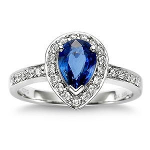 Blue sapphire...a royal wedding trend that I actually really love.