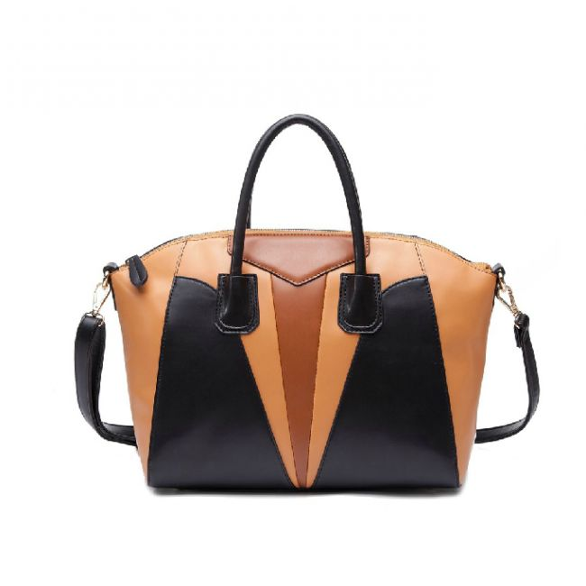 Sleek Retro Contrast Color PU Leather #Shoulder #Bag for Women Free Shipping