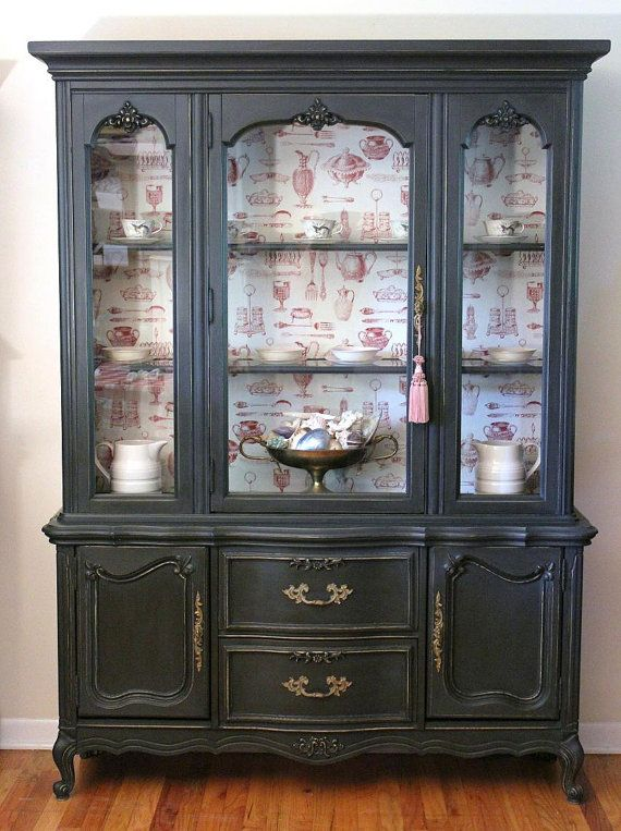 French Black China Cabinet By Lavanttehome On Etsy 850