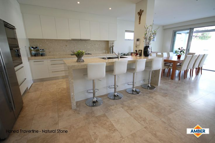 Gorgeous honed travertine
