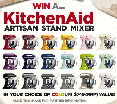 WIN a KitchenAid Artisan Stand Mixer valued at $749!!!! on http://www.ledelicieux.com